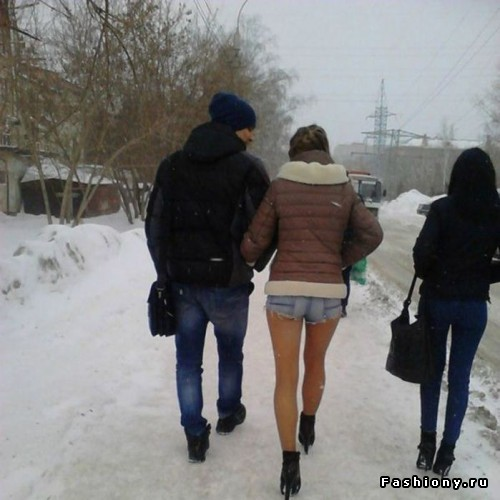фото голые девушки зимой